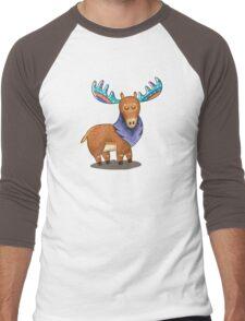 Rainbow Moose Men's Baseball ¾ T-Shirt