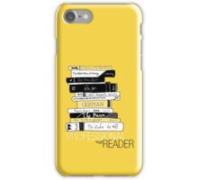 Professional Reader (Yellow) iPhone Case/Skin