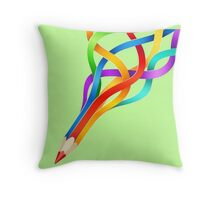 Pencil Rainbow! Throw Pillow