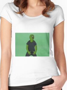 'Just Do It' Pepe Women's Fitted Scoop T-Shirt