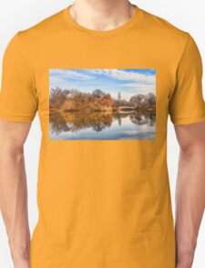 New York City Central Park Bow Bridge - Impressions Of Manhattan Unisex T-Shirt