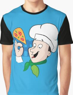 Cartoon chef with pizza Graphic T-Shirt