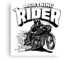 Lighting Rider..!! Canvas Print