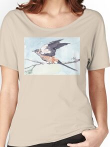 Greater-striped Swallow - (Cecropis cucullata) Women's Relaxed Fit T-Shirt