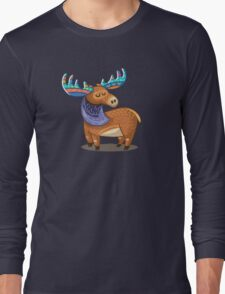 Rainbow Moose Long Sleeve T-Shirt