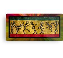 og lively reggae dancers Metal Print