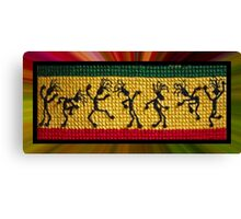 og lively reggae dancers Canvas Print
