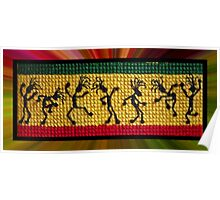 og lively reggae dancers Poster