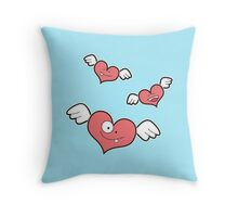 little heart monsters Throw Pillow