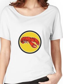 Red Lobster Circle Retro Women's Relaxed Fit T-Shirt