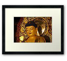 Asia Golden Buddha Framed Print