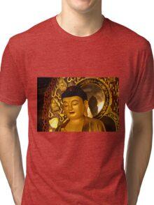 Asia Golden Buddha Tri-blend T-Shirt