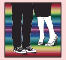 let's meet at the rainbow (two people awesome shoes) Kids Tee