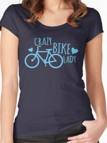 Crazy Bike Lady Women's Fitted Scoop T-Shirt