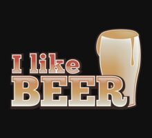 I LIKE BEER (with pint) Kids Tee