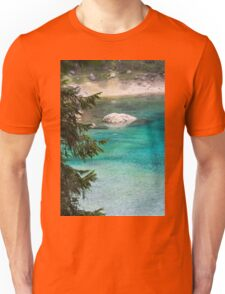 landscape of  blue lake in the mountain Unisex T-Shirt