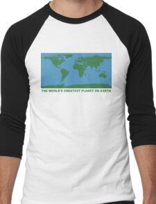 The World's Greatest Planet On Earth - ONE:Print Men's Baseball ¾ T-Shirt