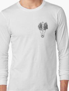 Deer Skull Flower Pot Long Sleeve T-Shirt