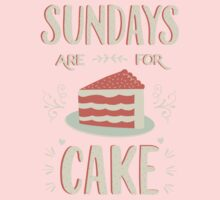 Sundays Are For Cake Baby Tee