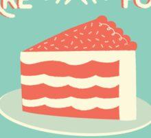 Sundays Are For Cake Sticker