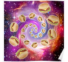 Spiral Galaxy of Burgers Poster