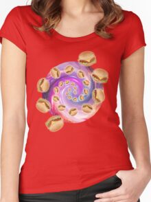 Spiral Galaxy of Burgers Women's Fitted Scoop T-Shirt