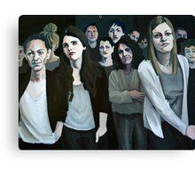 Hypnotized crowd Canvas Print