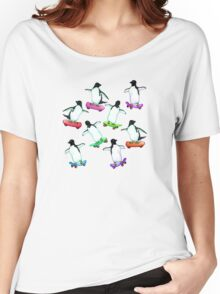 Skating Penguins - a cute hand drawn pattern Women's Relaxed Fit T-Shirt