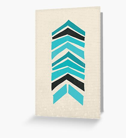 Mid Century Chevron Art III Greeting Card