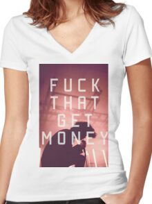 The 1975 Somebody Else  Women's Fitted V-Neck T-Shirt