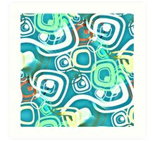 Retro Psychedelic Seamless Repeating Pattern Art Print