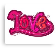 Love lettering Canvas Print