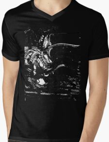 Warped Gears Mens V-Neck T-Shirt