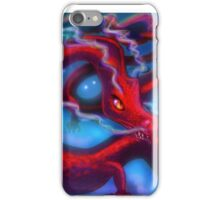 Red Dragon on a Starry Night Sky iPhone Case/Skin