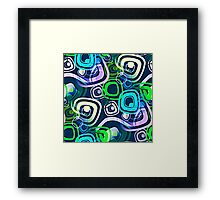 Retro Psychedelic Hippie Neon Colors Framed Print