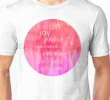 Inspirational Text on Pink Watercolor Abstract Unisex T-Shirt