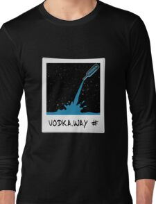 Vodka Way Polaroid Design Graphic T-shirt Cosmic Long Sleeve T-Shirt