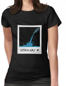 Vodka Way Polaroid Design Graphic T-shirt Cosmic Womens Fitted T-Shirt