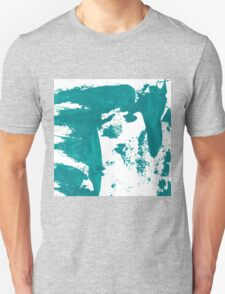 Artistic brush paint smears in sea green Unisex T-Shirt