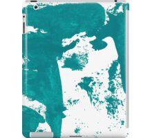 Artistic brush paint smears in sea green iPad Case/Skin