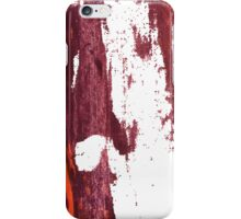 Artistic brush paint smears in deep violet red iPhone Case/Skin