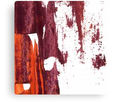 Artistic brush paint smears in deep violet red Canvas Print