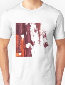 Artistic brush paint smears in deep violet red Unisex T-Shirt