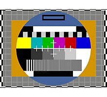 Test Pattern Photographic Print