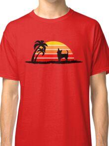 Chihuahua on Sunset Beach Classic T-Shirt