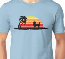 Chihuahua on Sunset Beach Unisex T-Shirt