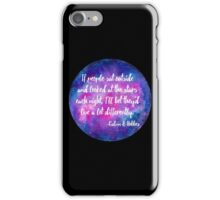 If people sat outside & looked at the stars iPhone Case/Skin