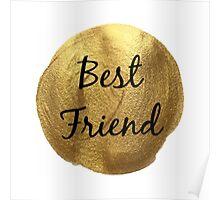Best friend gold background print Poster