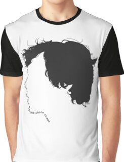 """Sherlock quote typography """"don't talk out loud"""" Graphic T-Shirt"""