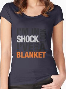 Sherlock blanket quote typography Women's Fitted Scoop T-Shirt
